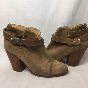 Rag & Bone Harrow Distressed Leather Booties Boots